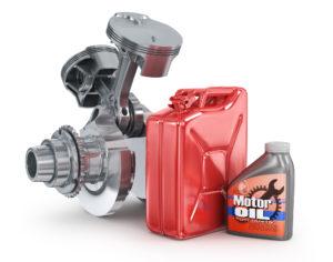 Канистра с бензином и моторным маслом