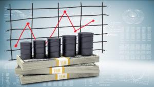 Нефтяные бочки с графиком