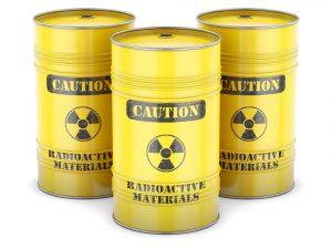 Бочки с радиоактивными материалами